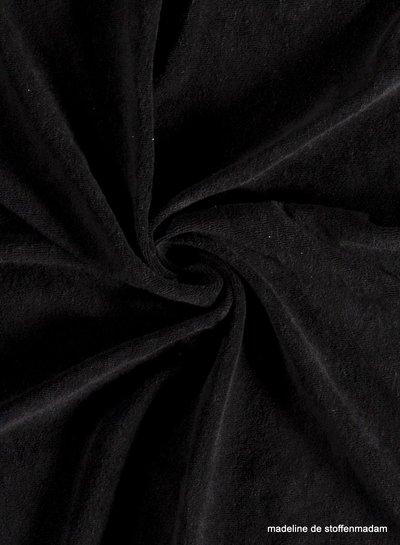 zwart spons - rekbare badstof