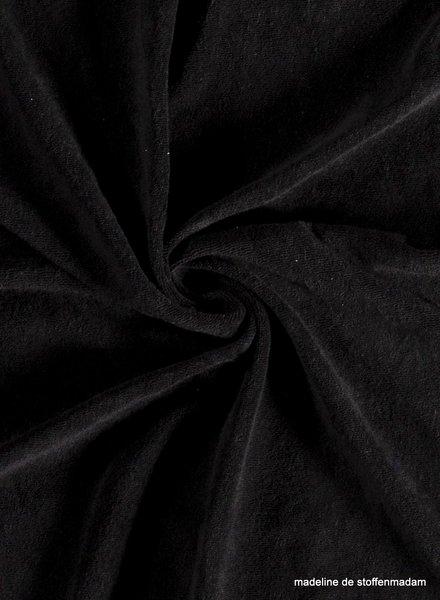 M zwart spons - rekbare badstof