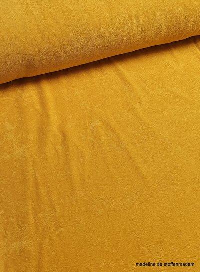 ochre stretch sponge or terry