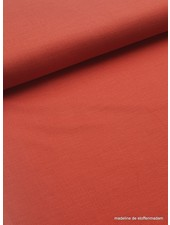 marsala - stretch linen cotton mix - soft quality
