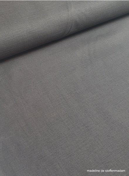 grey - stretch linen cotton mix - soft quality
