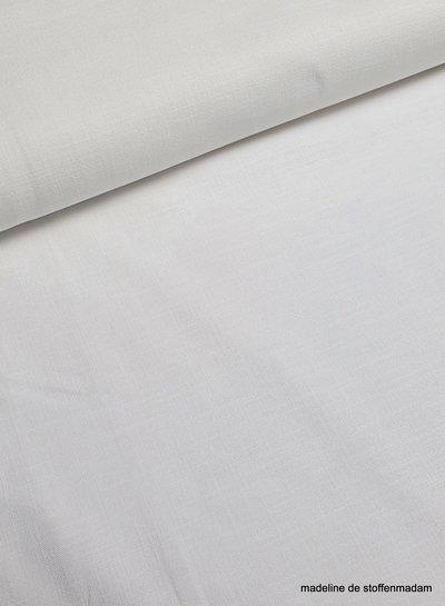 wit - rekbaar linnen katoen mix - superzachte kwaliteit