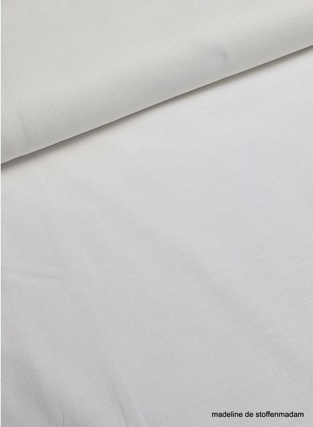 white - stretch linen cotton mix - soft quality