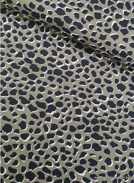 khaki spots - scuba crepe