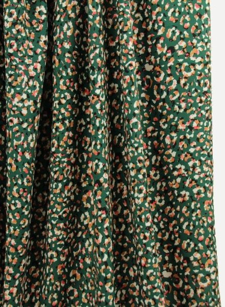 Atelier Jupe green viscose with animal print