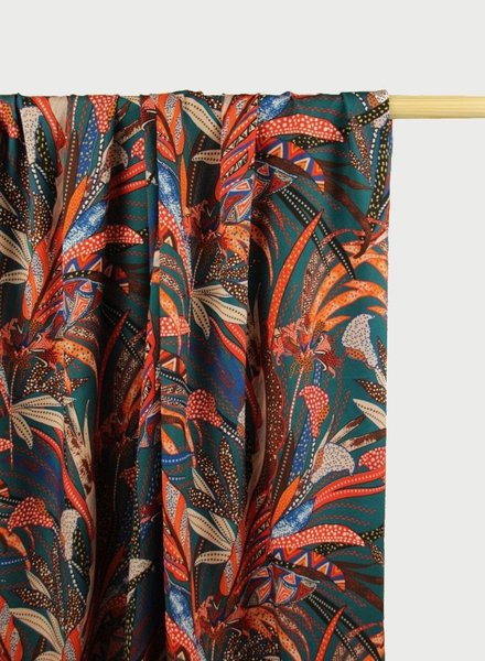Atelier Jupe viscose with ethnic print