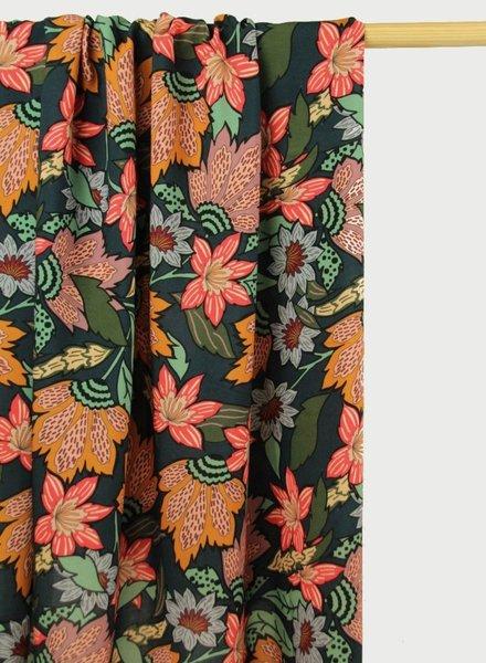 Atelier Jupe grote bloemenprint viscose