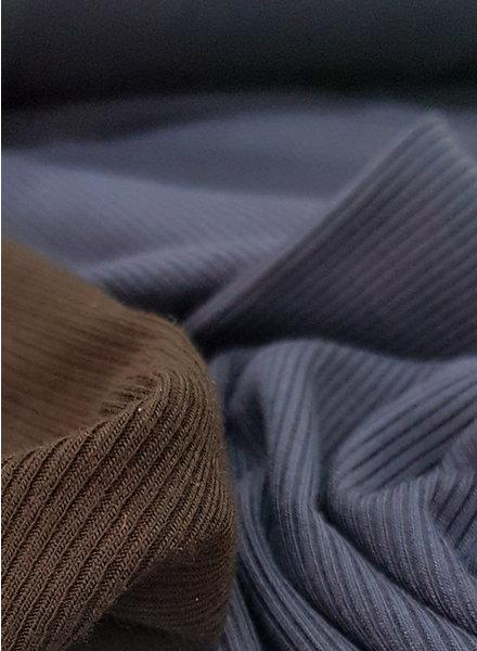 navy - geribbelde viscose tricot