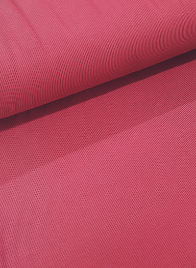pink - ribbed viscose jersey