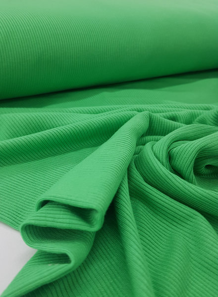 green - ribbed viscose jersey