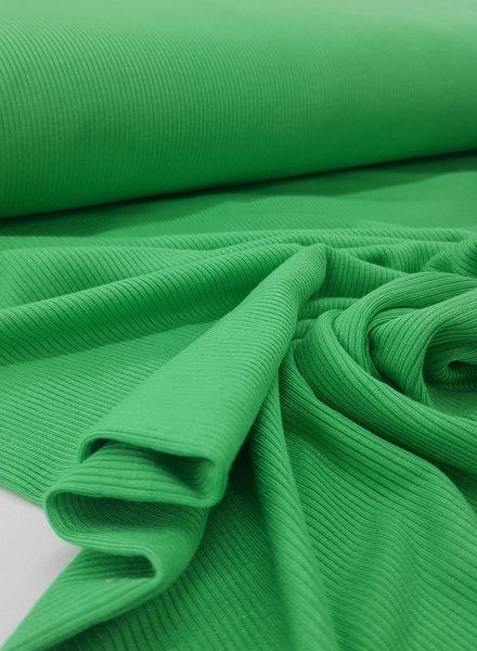 groen - geribbelde viscose tricot
