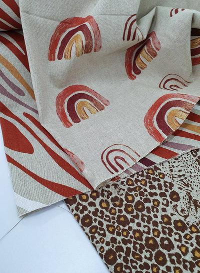 hidden leopard - linnen look canvas