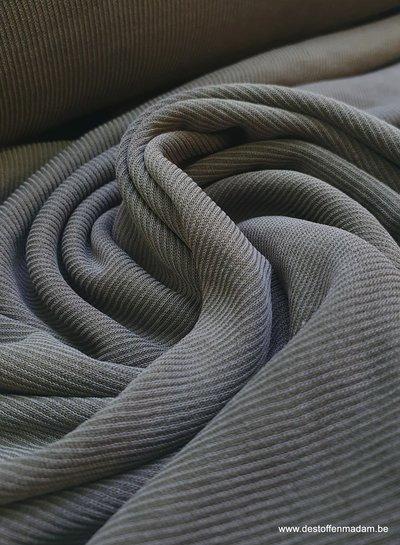 khaki  - modal stretch rib
