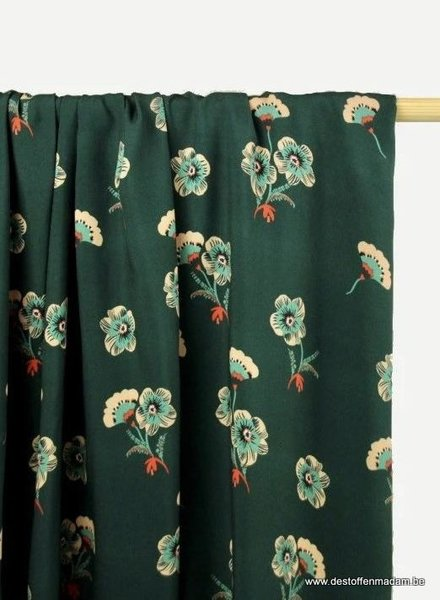 Atelier Jupe viscose with sweet flowers
