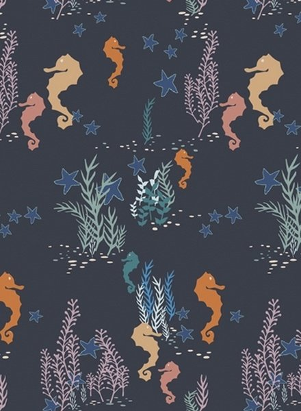 Seahorse Magic Deep -cotton