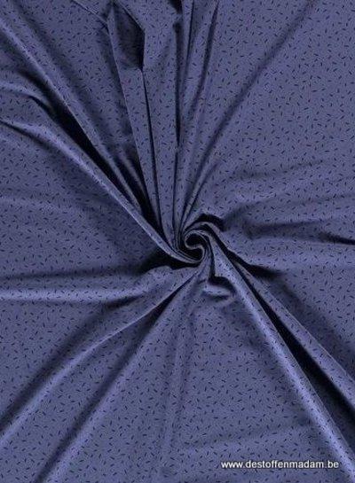blauw - confetti dashes - tricot