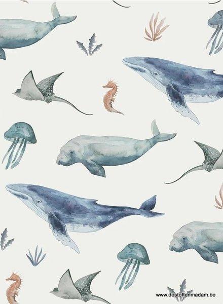 Family Fabrics deep sea life- jersey