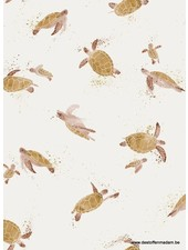 Family Fabrics turtles - tricot