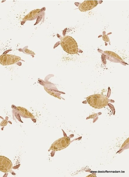 Family Fabrics turtles - tricot