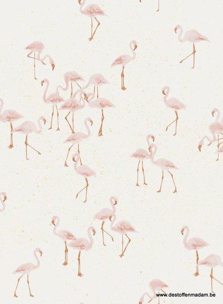 Family Fabrics flamingo's - jersey