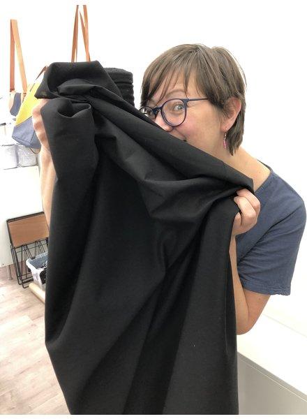 1 meter mondmasker stof zwart - katoen