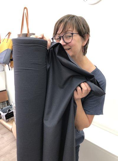 1 meter mondmasker stof antraciet - katoen