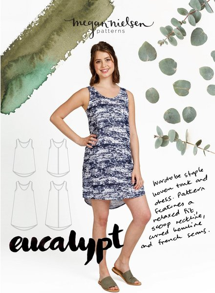 Megan Nielsen Eucalypt dress and tanktop - engels patroon