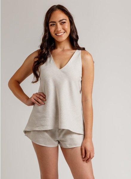 Megan Nielsen REEF CAMISOLE & SHORTS SET - engels patroon