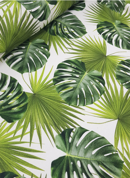 monstera leaves - soft deco fabric