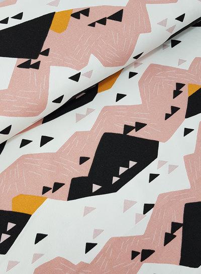 wild life mountains - canvas deco fabric
