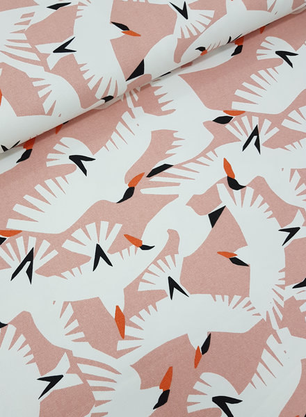 wild life birds - canvas deco fabric