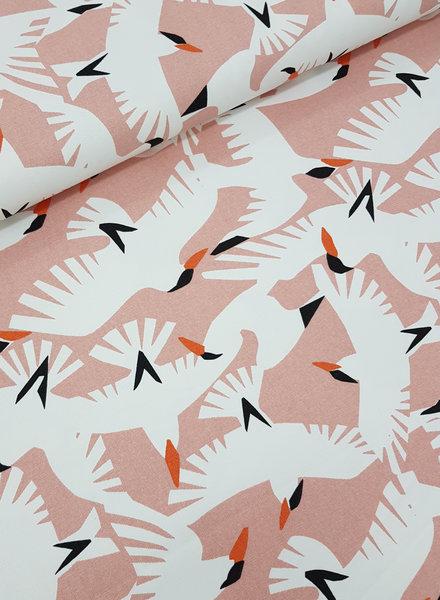 wild life birds - deco stof