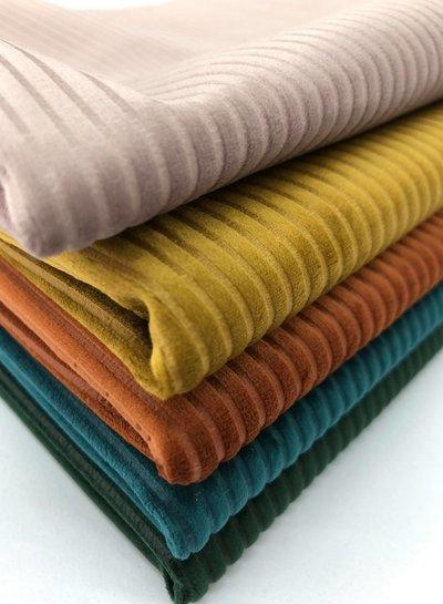 rust velvet corduroy - soepele en zachte decoratiestof