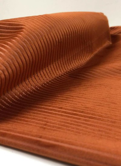 rust velvet corduroy - velvet deco fabric