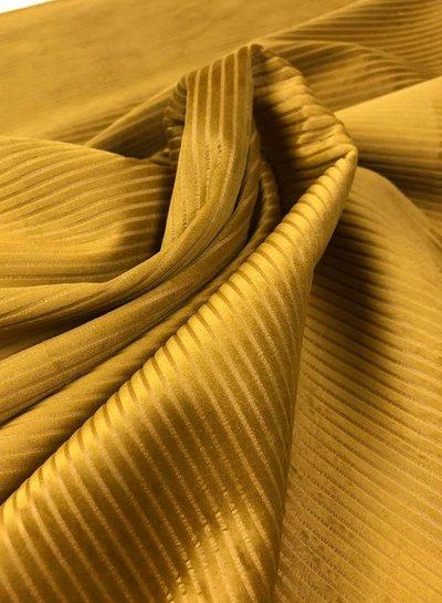 ocre gold  velvet corduroy - soepele en zachte decoratiestof