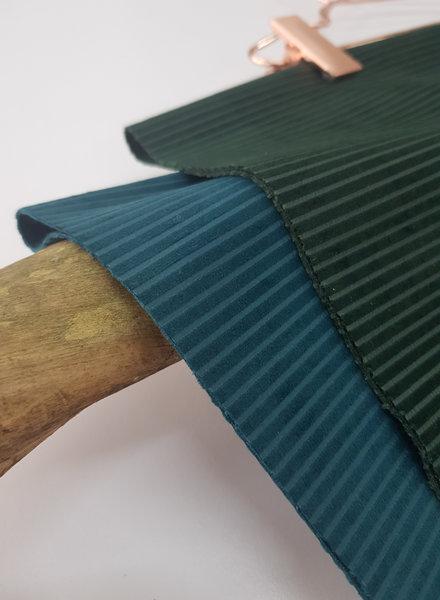 petrol velvet corduroy - soepele en zachte decoratiestof