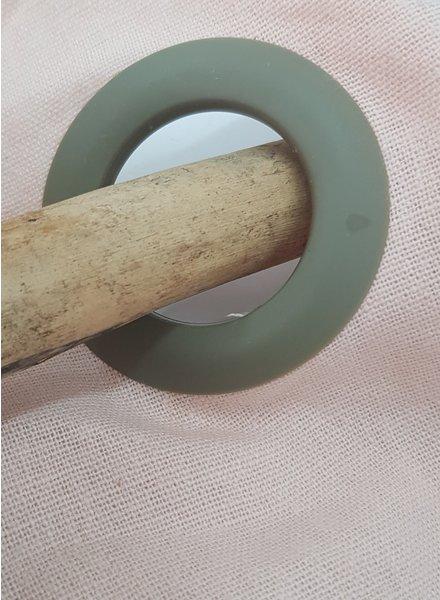gordijn klik ringen - khaki