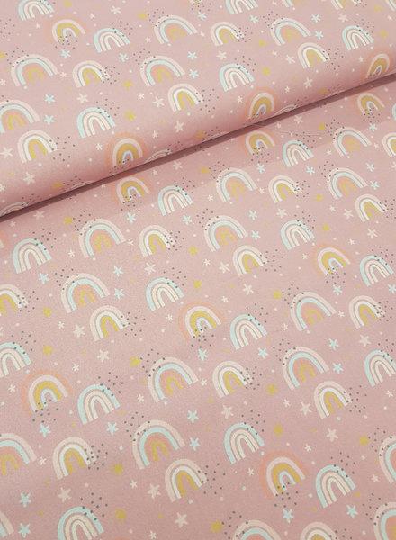 pink rainbow - cotton