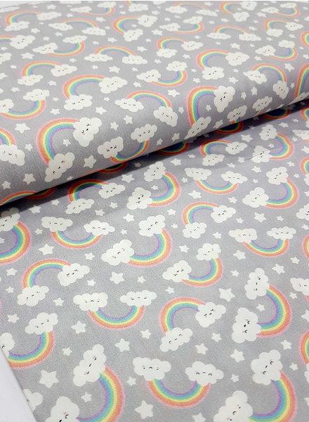 soft grey rainbow - cotton