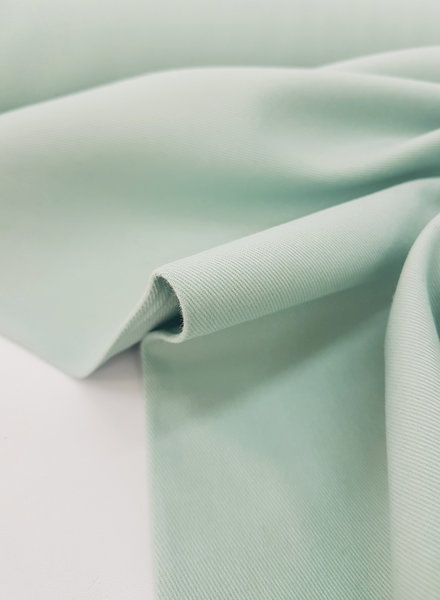 mint - cotton twill - soft touch 9.5 oz