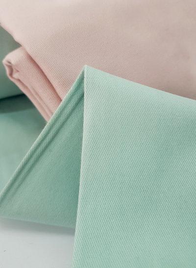 mint - cotton twill - soft touch 9.5 oz
