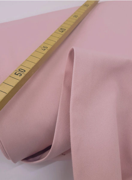 dusty pink - cotton twill - soft touch 9.5 oz