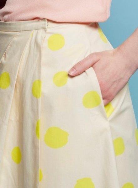 Cinderella rok -  yellow dots - soepele zachte katoen