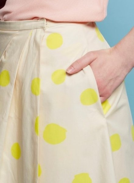 La Maison Victor Cinderella skirt - yellow dots - soft cotton