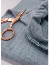 dusty blue- double gauze stretch - baby cotton