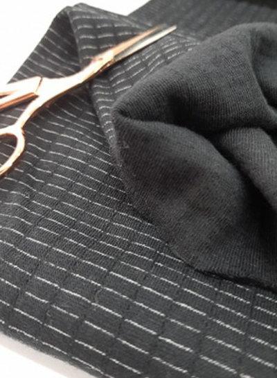 black - double gauze stretch - baby cotton