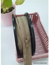 beige endless zipper  size 5 - 1 slider per 50 cm