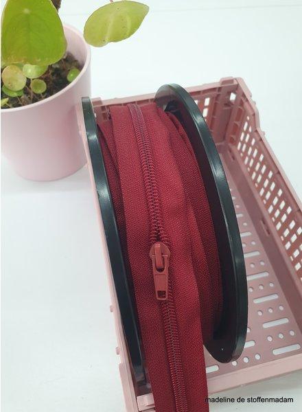 bordeaux endless zipper size 5  with sliders - 1 slider per 50 cm