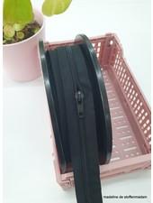 zwart rits lopende meter maat 5 - 1 trekker per 50 cm