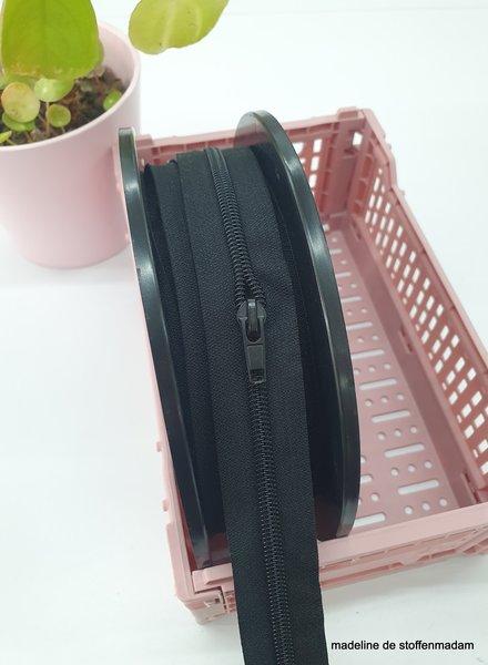 black endless zipper size 5  with sliders - 1 slider per 50 cm